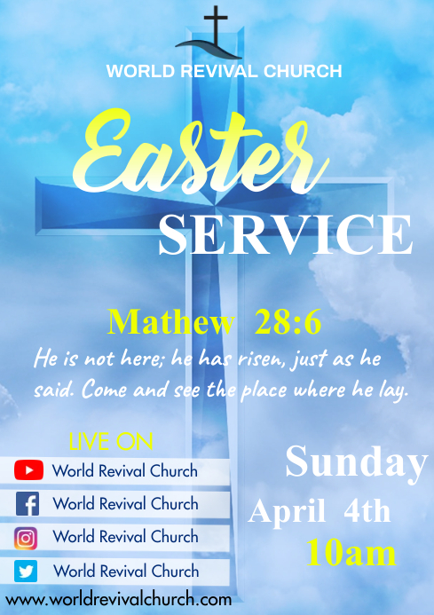 Easter service A3 template