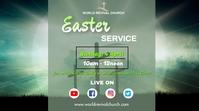Easter service Ecrã digital (16:9) template