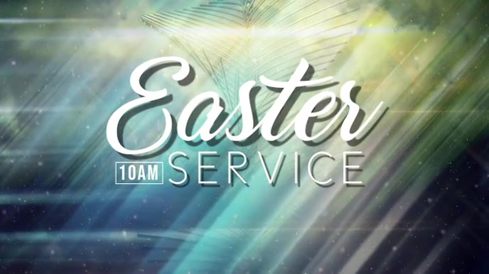 Easter Service Digital na Display (16:9) template