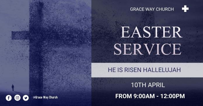 Easter Service Immagine condivisa di Facebook template