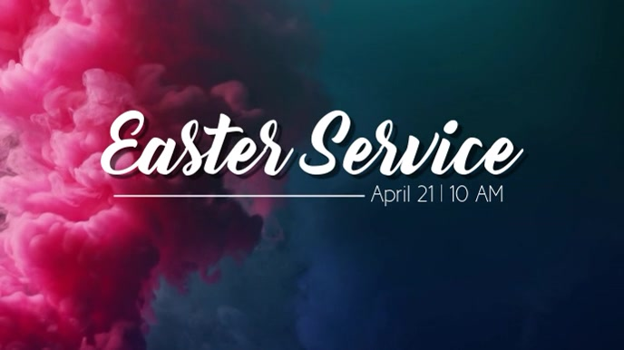 Easter Service Digital na Display (16:9) template