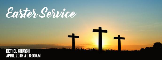 Easter service Portada de Facebook template