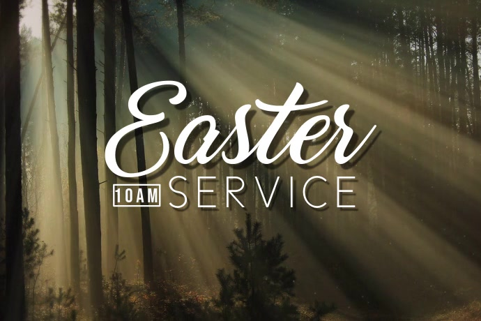 Easter Service Póster template