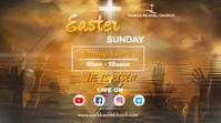 Easter service Digitale Vertoning (16:9) template