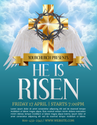 Easter Service Flyer (US Letter) template