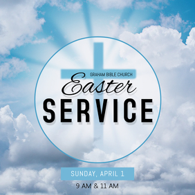 Easter Service Event Instagram Post Template