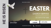 easter service flyer Ecrã digital (16:9) template