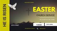 Easter service flyer Tampilan Digital (16:9) template