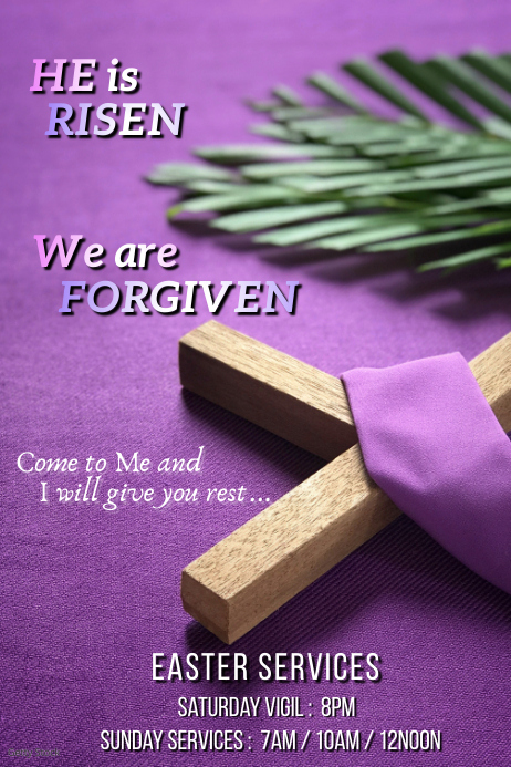 Easter Services Plakat template