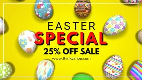 Easter Special Banner Sale Price Off eggs