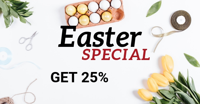 Easter Special Discount Price Off Shopping Ad Facebook-advertentie template
