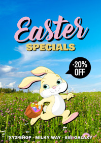 Easter Specials Sale Flyer Poster Retail Online Shopping