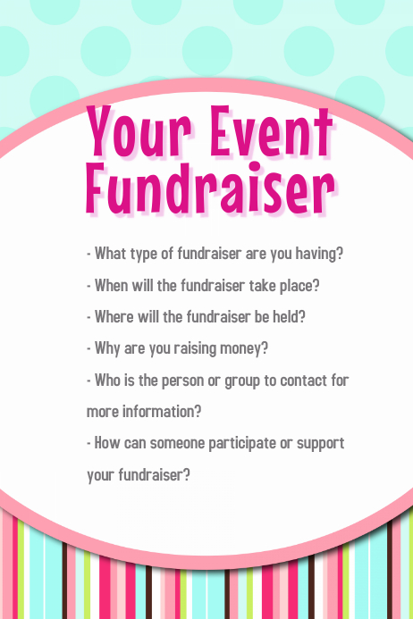 Easter Spring Birthday Small Business Fundraiser Event Flyer