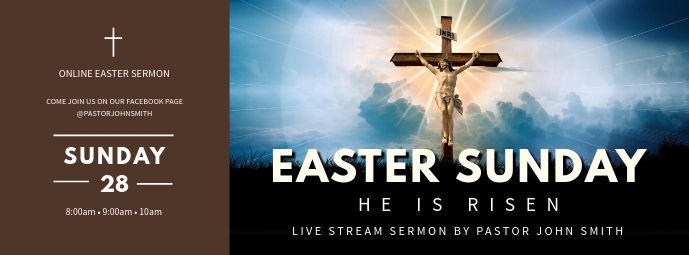 Easter Sunday (Online ) Facebook Omslag Foto template