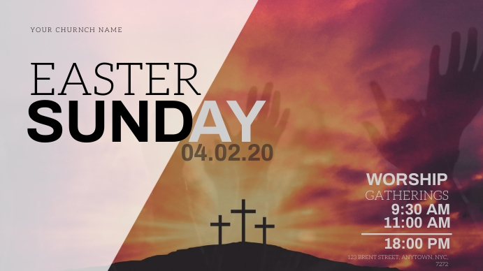 EASTER Sunday Church Event Flyer Template Gambar Mini YouTube