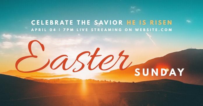 Easter sunday church facebook template