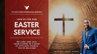 EASTER SUNDAY church flyer Цифровой дисплей (16 : 9) template