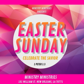 EASTER SUNDAY CHURCH FLYER Album Cover template