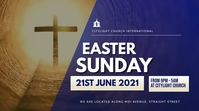 easter SUNDAY church flyer Digital Display (16:9) template