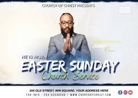 EASTER SUNDAY Postal template
