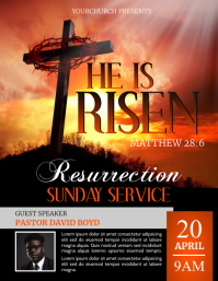 EASTER SUNDAY Flyer (US Letter) template