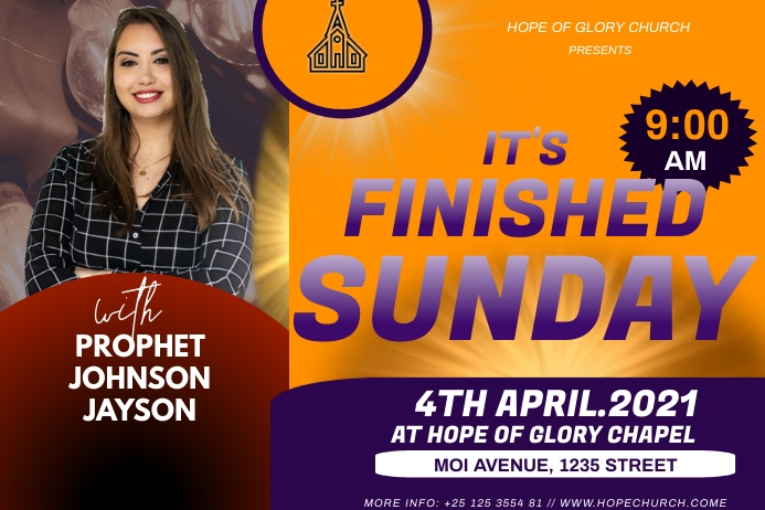 Easter Sunday Etiket template