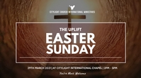 easter sunday flyer Digitale display (16:9) template