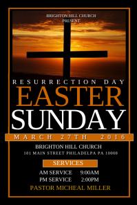 Resurrection sunday church flyer template | inspiks market.