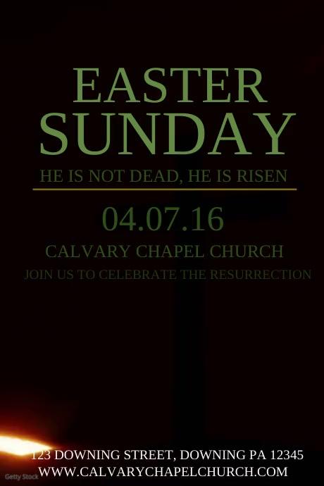 EASTER SUNDAY โปสเตอร์ template