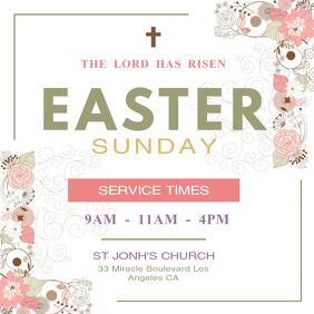 Easter Sunday Instagram Post