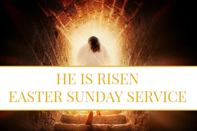 Easter Sunday Service Cartaz template