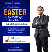 easter sunday service flyer Instagram-bericht template
