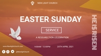 Easter Sunday service flyer 数字显示屏 (16:9) template