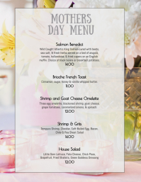 Easter Sunday Weekend Brunch menu