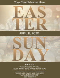 Easter Sunday Worship Church Event Template