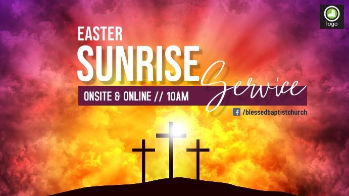 Easter Sunrise Service Pantalla Digital (16:9) template