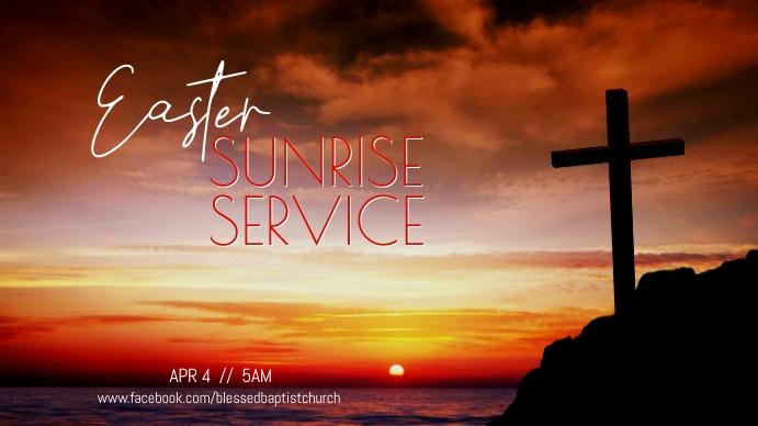 Easter Sunrise Service Tampilan Digital (16:9) template