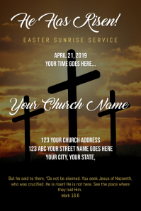Easter Sunrise Service Poster template