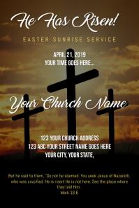 Easter Sunrise Service Poster