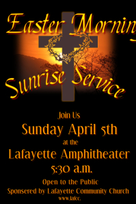 Easter Sunrise Service
