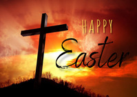 Easter Template 明信片