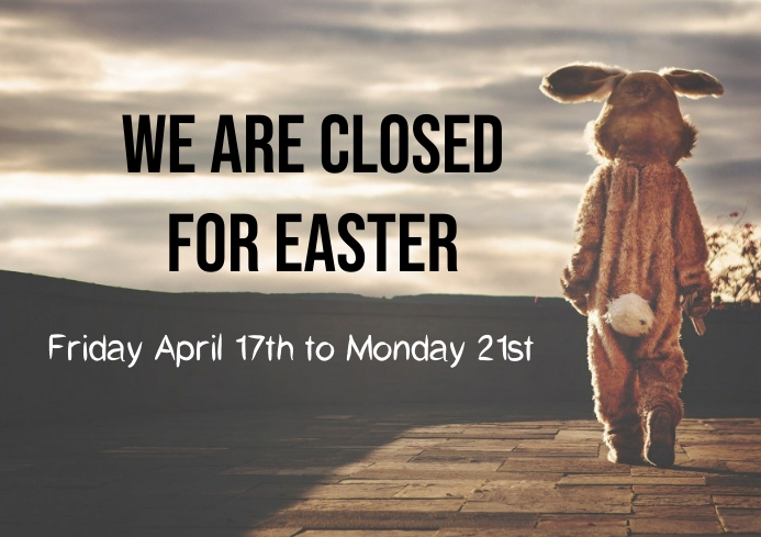 Easter trading hours closed A4 template