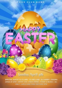 easter video A4 template
