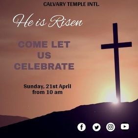 EASTER VIDEO FLIER TEMPLATE Square (1:1)