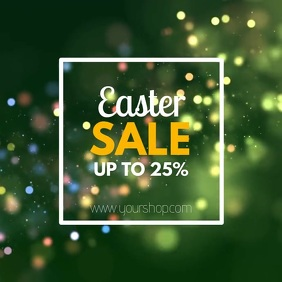 Easter Video sale advert square shine glam