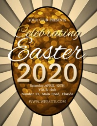 EASTER WEEKEND CELEBRATION FLYER TEMPLATE