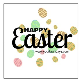 Easter wishes Greeting Video Card Square template