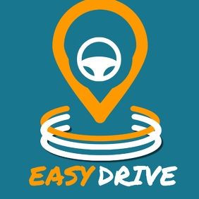 easy drive / gps navigator app logo or icon
