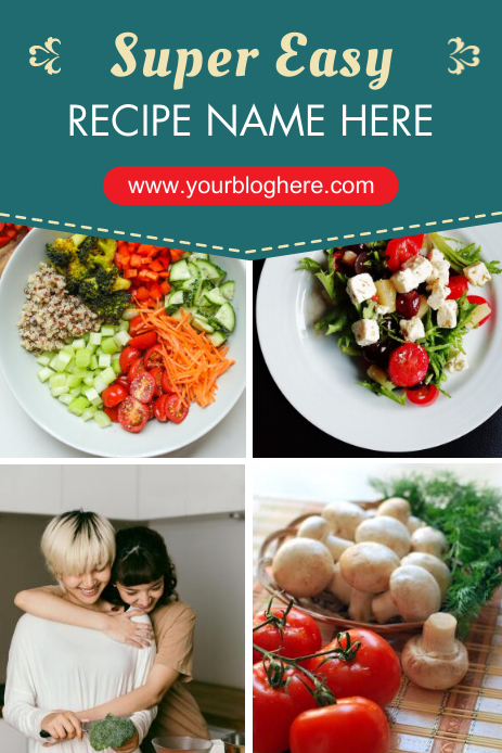 Easy Recipe Pinterest Graphic template