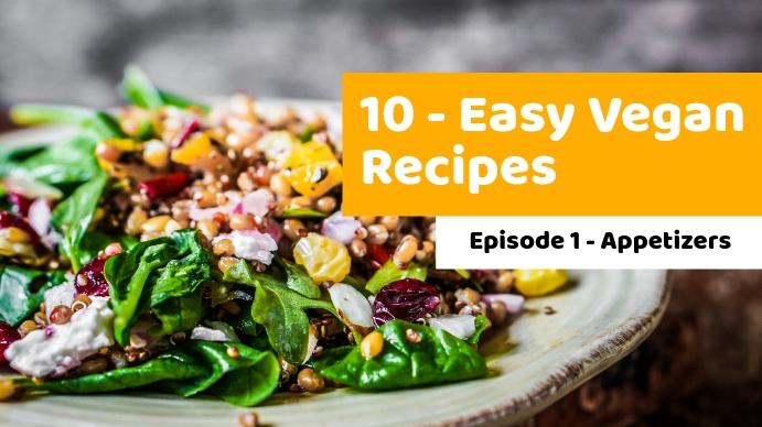 easy vegan recipes youtube thumbnail design t template